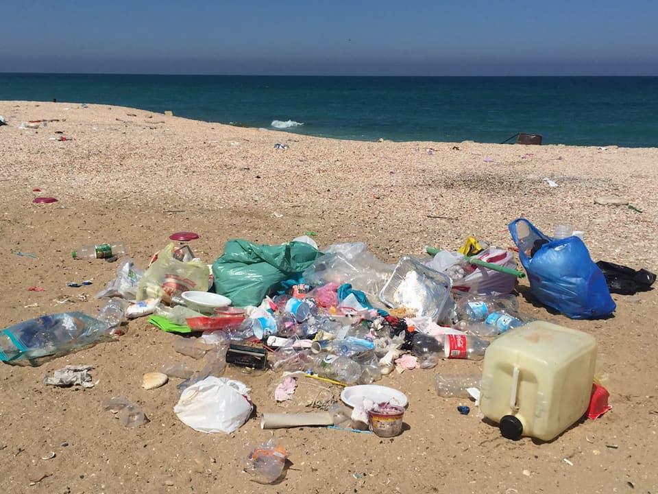 זיהום החוף בפלמחים (צילום: באדיבות עמותת צלול)