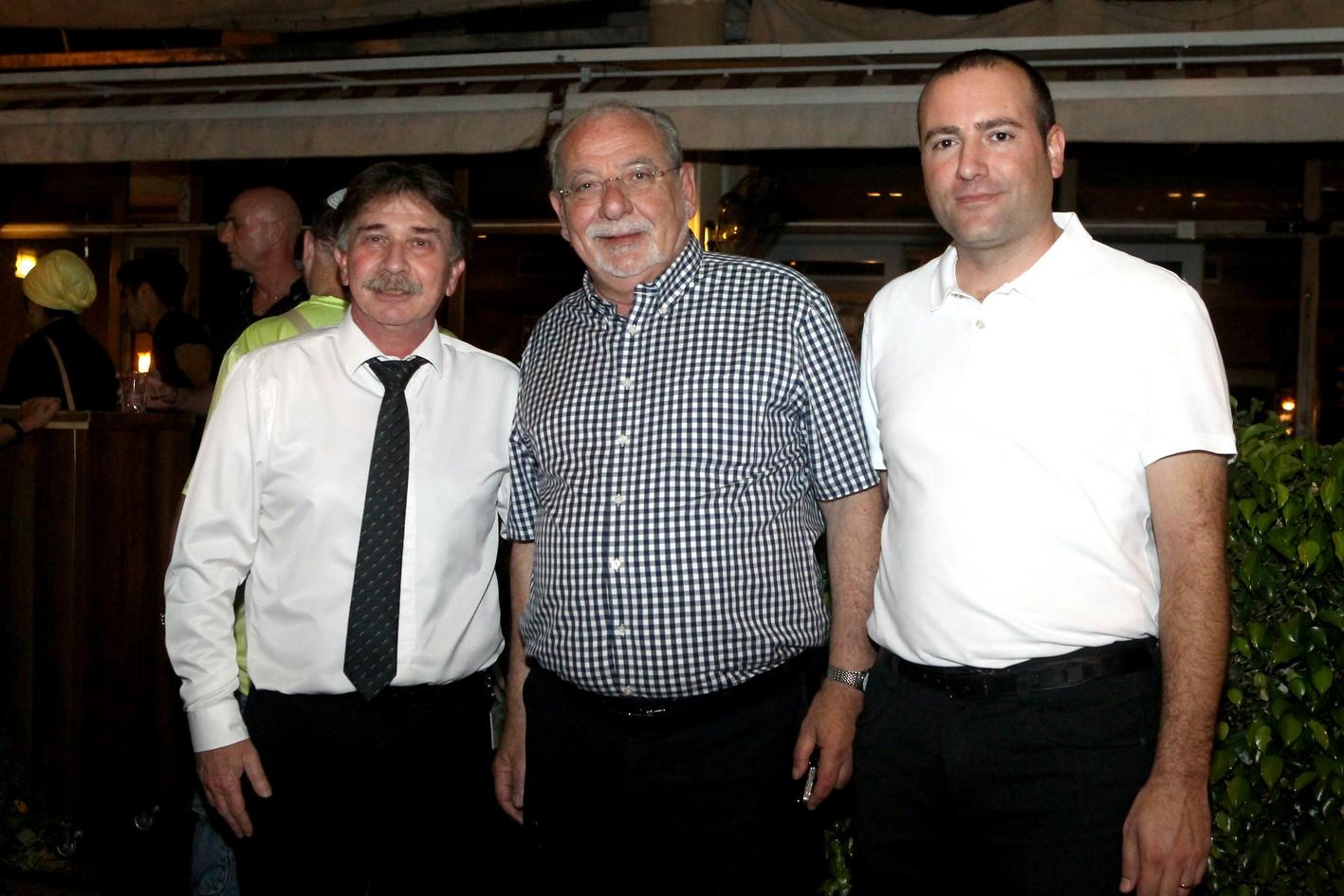 """מימין: עו""""ד מתן דיל, רחמים מלול וד""""ר קרלוס גרוזמן"""