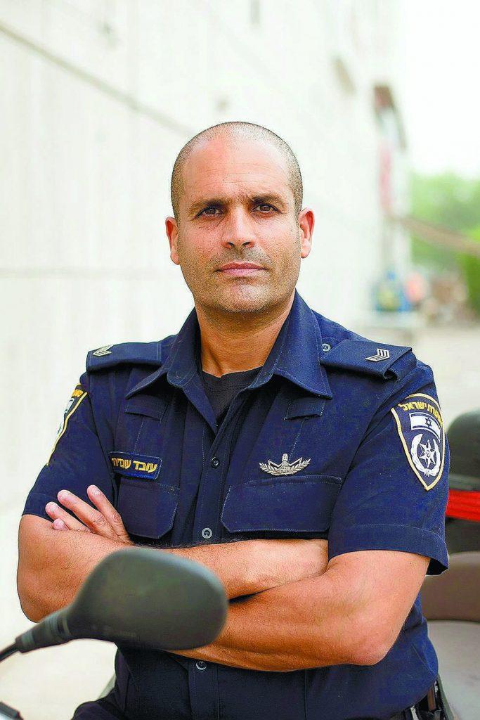עובד עובדיה מפקד משטרת נס ציונה (צילום: ג'ני גפטרשוסטר)
