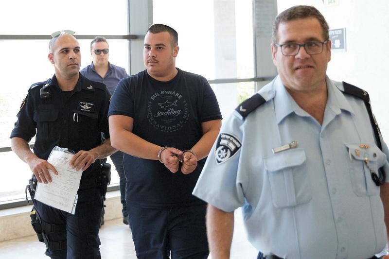עמוס לביא בהארכת מעצר לחשודים ברצח רומן אנטון ברחובות (צילום: מוטי מילרוד)
