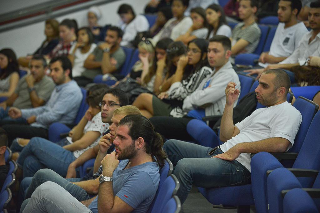 סטודנטים בראשון לציון (צילום: עידן גרוס)
