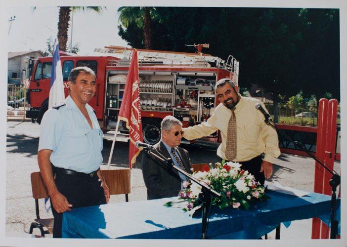 שמעון גמליאל בתקופתו של שוקי פורר כראש עיריית רחובות (צילום: ג'ני גפטרשוסטר)