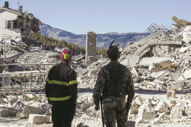 רעידת אדמה באיטליה בשנת 2016 (צילום: Massimo Percossi אי־פי)