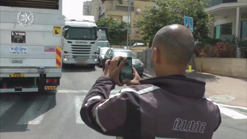 מבצע אכיפת התנועה במרחב השפלה (צילום: דוברות המשטרה)