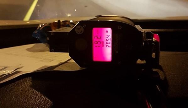 """192 קמ""""ש על הכביש מהירות מופרזת"""
