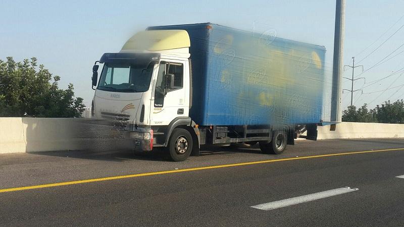 המשאית שנתפסה על כביש 431