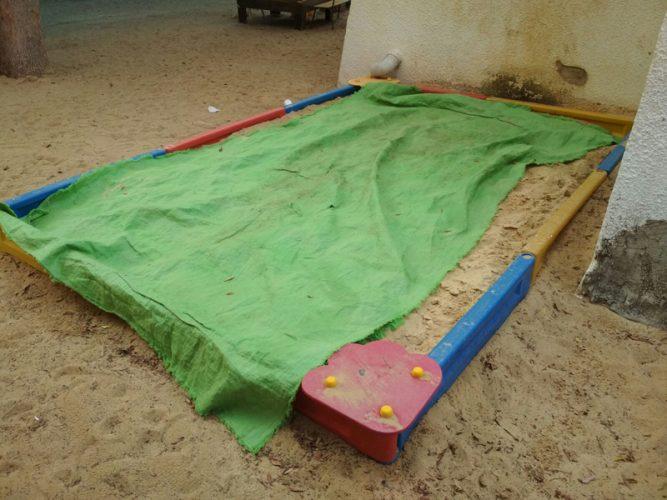 היריעה בארגז החול בגן חסידה