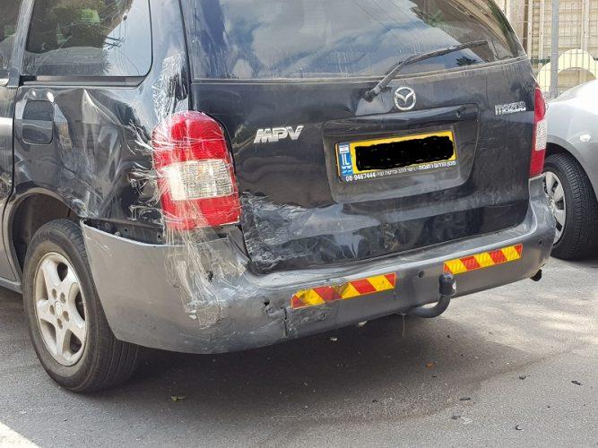 רכבים שנפגעו ברחוב סירני