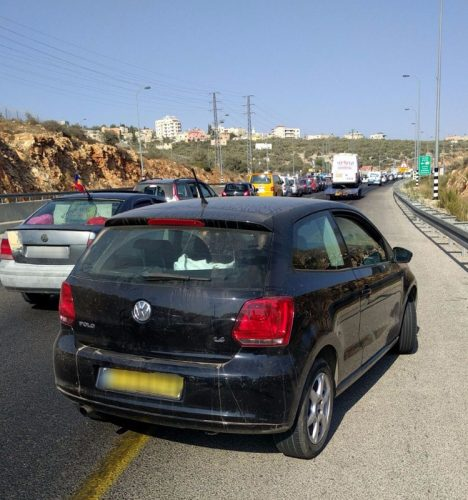 רכב גנוב שנתפס (צילום: דוברות המשטרה)