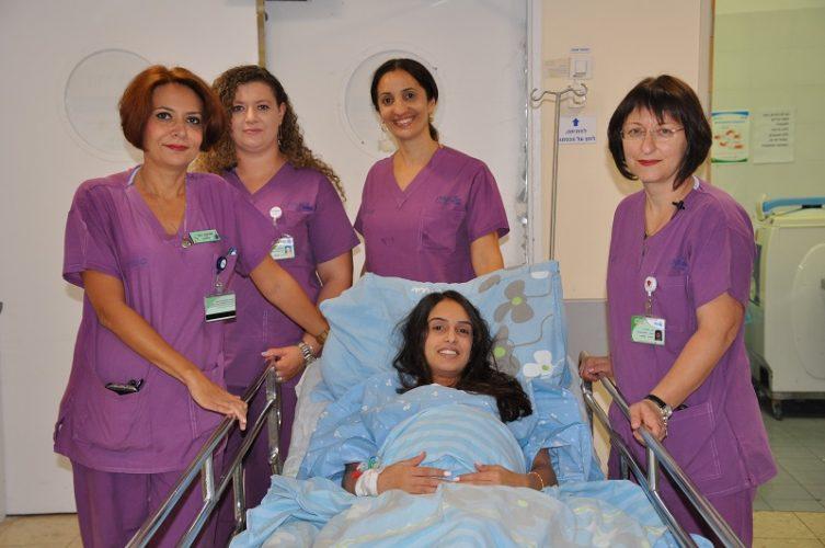 צוות חדר לידה ויולדות בקפלן (צילום: אפרת שררה, בית חולים קפלן)