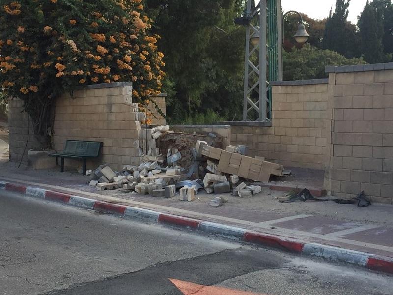 """החומה שקרסה ברחוב אצ""""ל"""