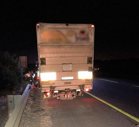 המשאית שנגנבה ברחובות (צילום: דוברות המשטרה)