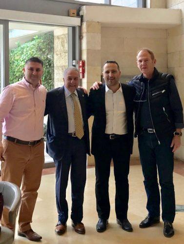 """מימין לשמאל: ראובן קידר מקרסו נדל""""ן, אלדד פרי, שמעון מזרחי וליאור ברדוגו (צילום: יח""""צ)"""