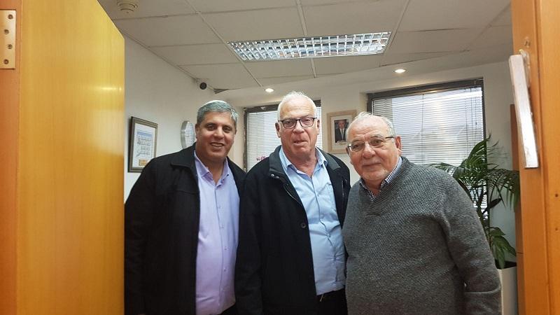 השר אורי אריאל, ראש העיר רחמים מלול וחבר המועצה אמיתי כהן