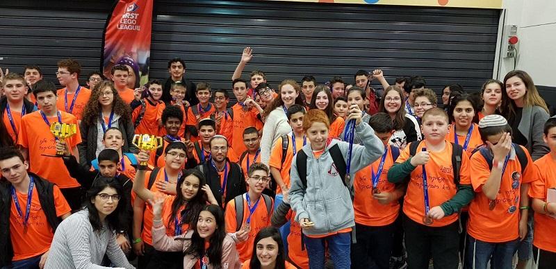 תלמידי רחובות בתחרות הרובוטיקה המחוזית