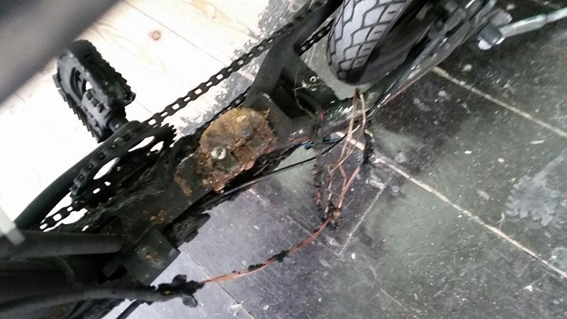 האופניים החשמליים לאחר הפיצוץ