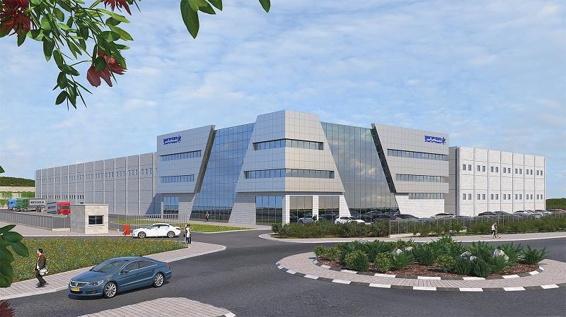 הדמיית מפעל סוללות תדיראן המתוכנן ליד גבעת ברנר