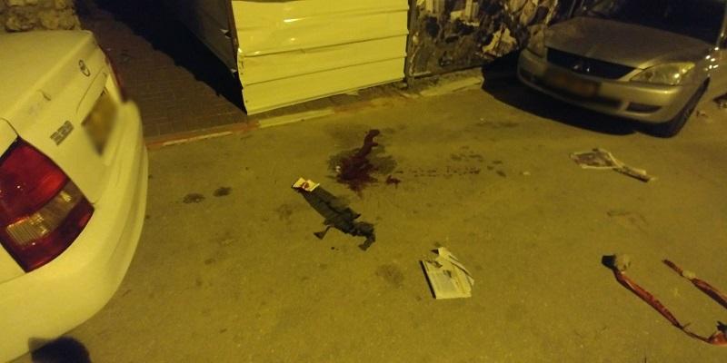 זירת הירי בנס ציונה (צילום: דוברות המשטרה)