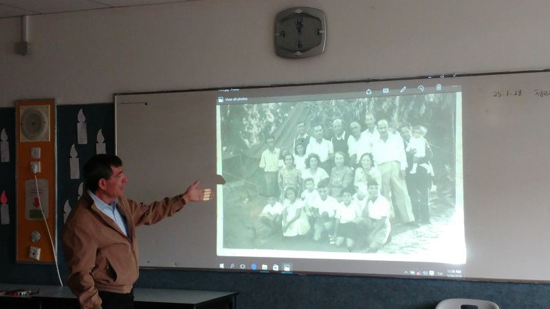 יוסי שבו במפגש עם תלמידי 'גולדה מאיר'