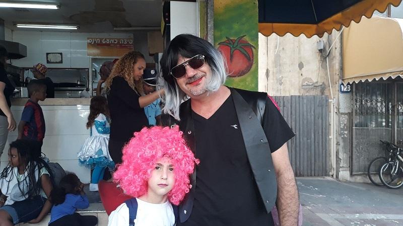 ליאב עם אבא מאיר