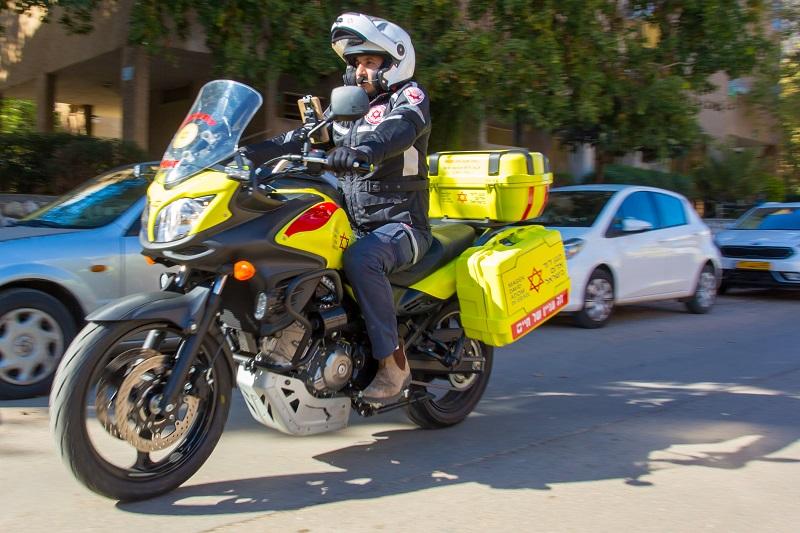 """אופנוע מד""""א 650 (צילום: שחר חזקלביץ, תיעוד מבצעי מד""""א)"""