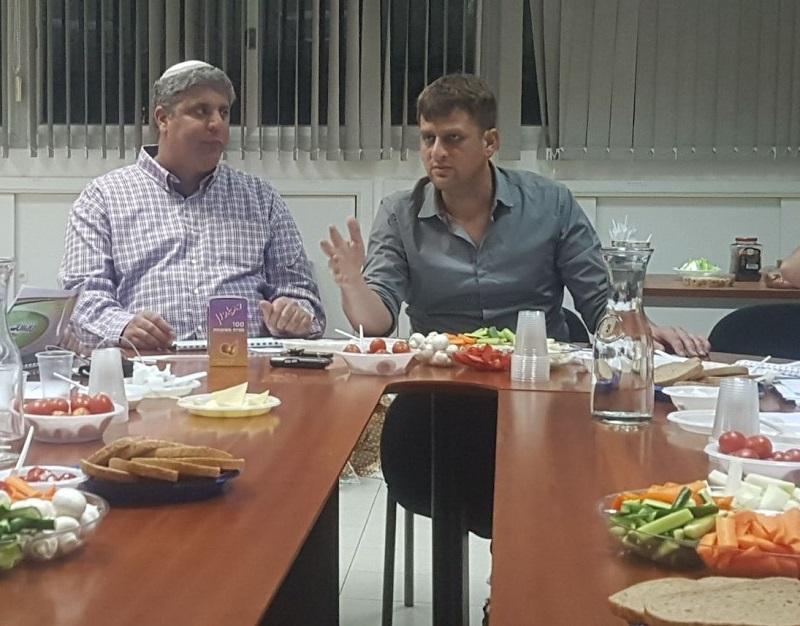 יניב מרקוביץ' ואמיתי כהן בישיבת התקציב