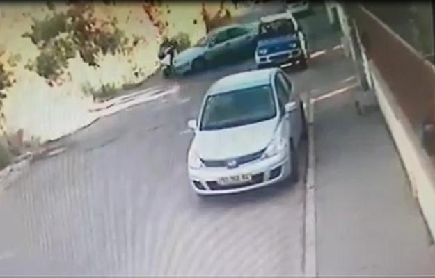 תאונת פגע וברח (צילום: מתוך סרטון האבטחה)