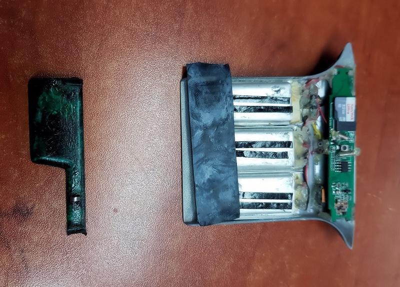 המכשור שהותקן בכספומטים (צילום: דוברות המשטרה)