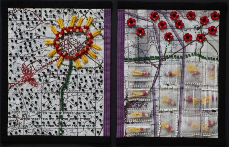 יצירה מתוך תערוכת שלוש נקישות של רחלי רוגל