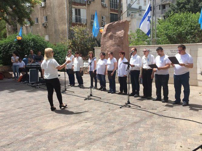 טקסי יום הזיכרון באנדרטאת גדוד 55 ברחובות