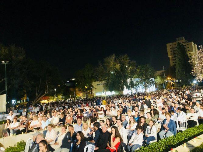 אלפים בטקס הזיכרון המרכזי