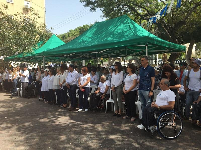 טקס יום הזיכרון באנדרטת גדוד 55