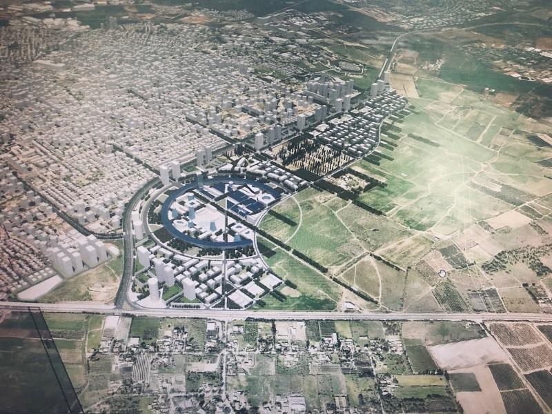 הדמיית המתחם המתוכנן במזרח העיר (אדריכל: מנדי רוזנפלד)