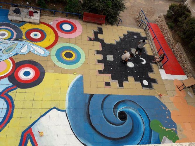ציור הרצפה הענק בדה שליט