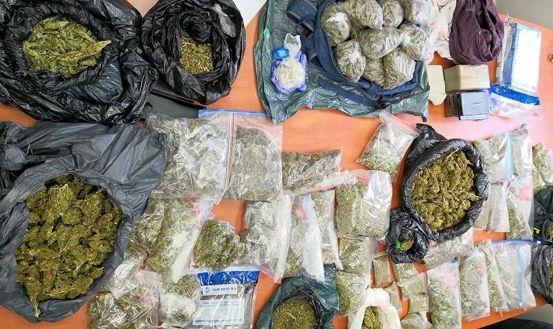 תפיסת סמים (צילום: דוברות המשטרה)