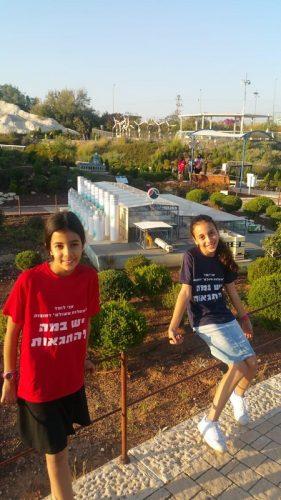 תלמידי בית הספר מעלות משולם ביום חווייתי במיני ישראל