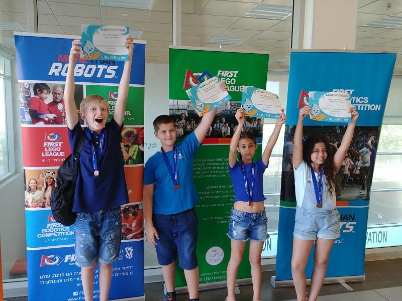 תלמידי ניצני המדע בתחרות הרובוטיקה