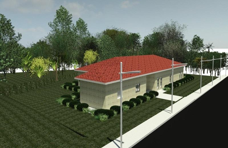 הדמיה של בית הכנסת החדש במזכרת בתיה