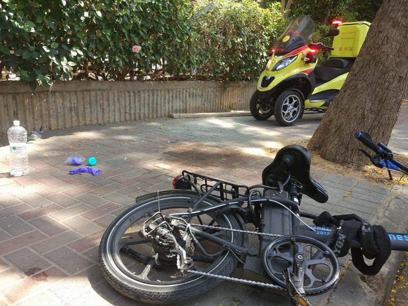 אופניים חשמליים שהיו מעורבים בתאונה (צילום אילוסטרציה)