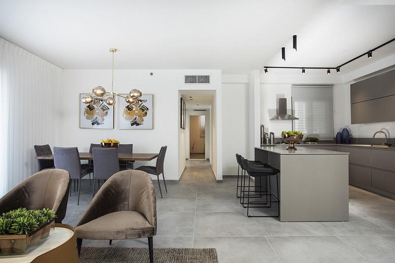 דירה לדוגמה בפרויקט אביסרור מערב רחובות 431 (צילום: סוזי לוינסון)