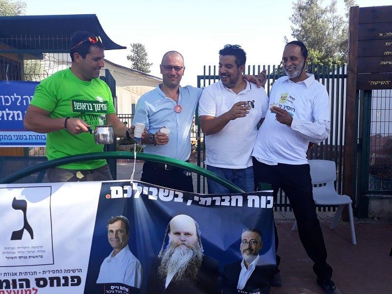 מימין: גבריאל אהרוני, שמוליק דאנזאן, אסף אל בר ואלי מוסן לוי