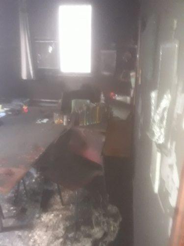 מנזקי השריפה באולפנת צביה