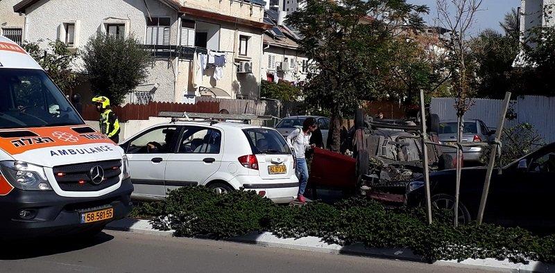 זירת התאונה בסמוך לצומת אושיות (צילום: דוברות איחוד הצלה)