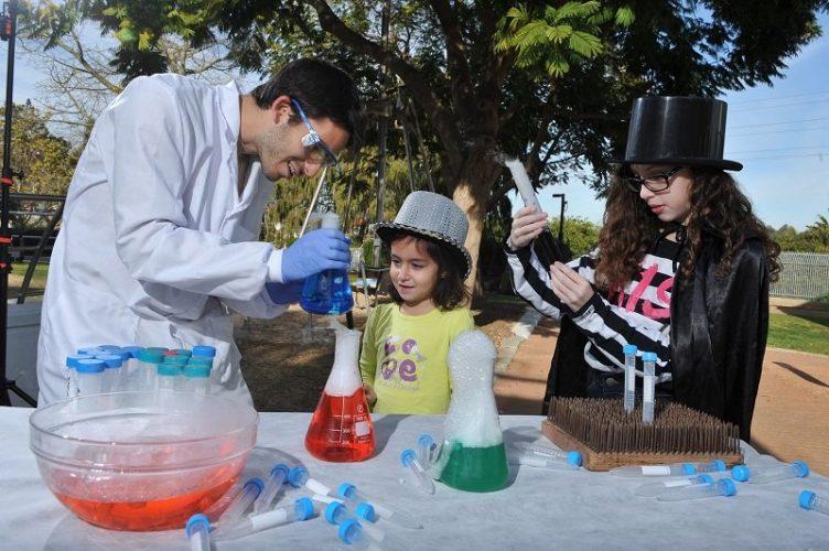 פעילות בגן המדע (צילום: איתי בלסון)