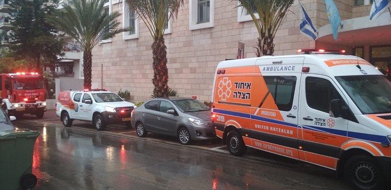 שריפה במוזיאון מורשת יהדות תימן וקהילות ישראל (צילום: דוברות איחוד הצלה)