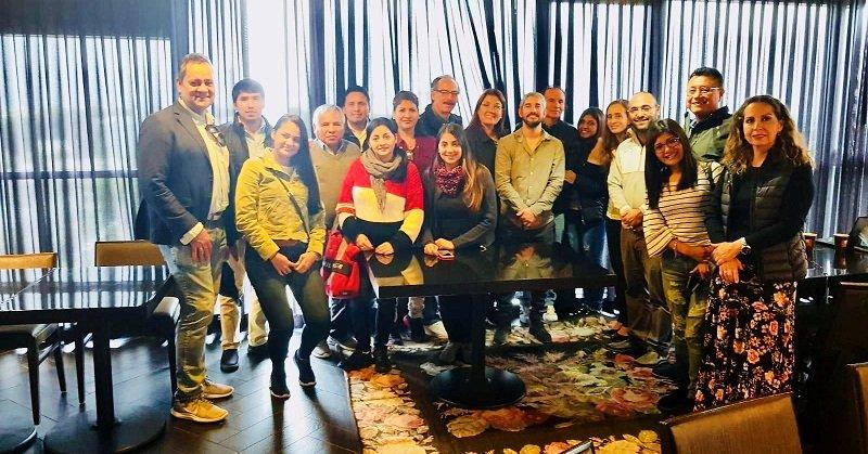 משלחת של המכון הבינלאומי למנהיגות בביקורה ברחובות