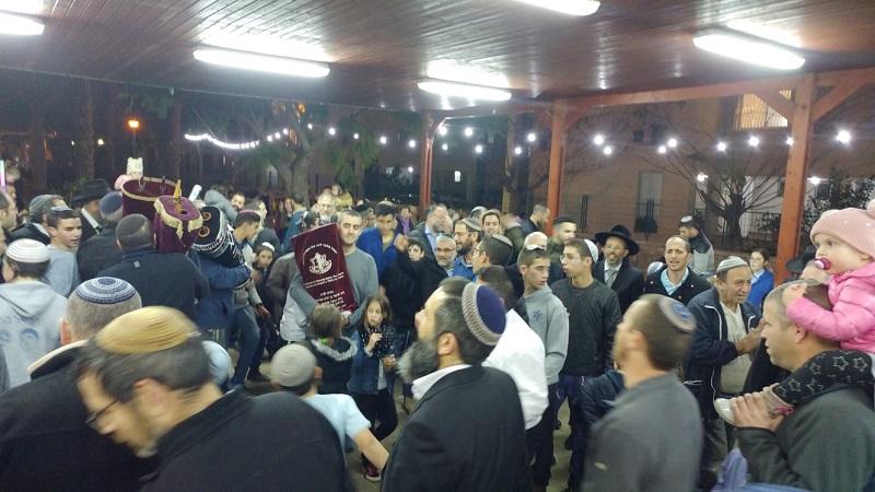 חגיגות הכנסת ספר תורה לבית הכנסת של קהילת יעקב