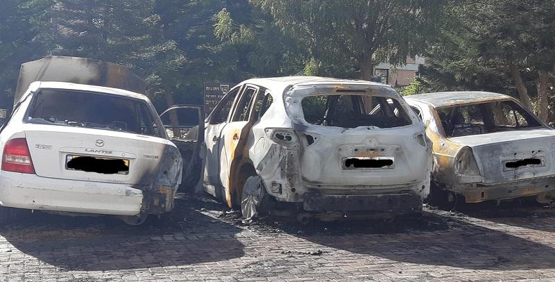 כלי הרכב שעלו באש באושיות