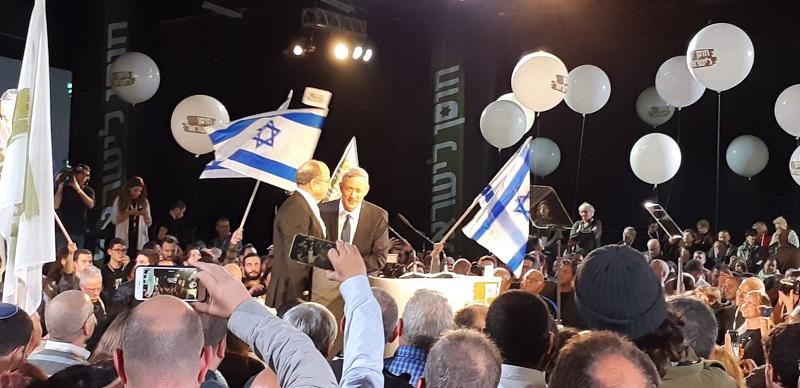 בני גנץ ובוגי יעלון בפתיחת קמפיין 'חוסן לישראל'