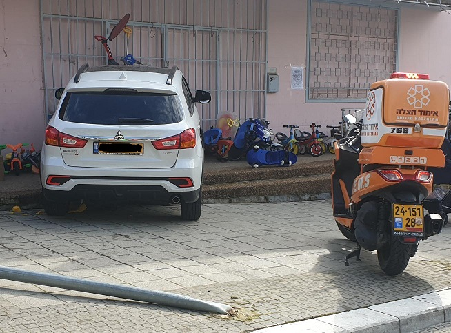 רכב עלה על מדרכה ופגע בחנות צעצועים ברחובות
